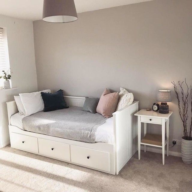 Hemnes Day Bed W 3 Drawers 2 Mattresses White Malfors Medium Firm Bedding Inspiration Daybed With Drawers Spare Bed