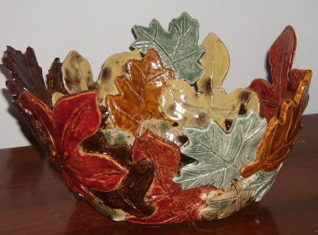 Leaf Bowl | Ideas in 2019 | Pottery, Ceramics, Ceramic Pottery