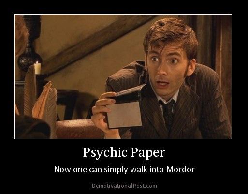 Psychic Paper