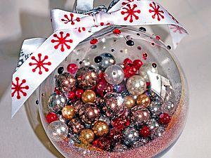Новогодний шарик. Самый простой МК в мире :-) | Ярмарка Мастеров - ручная работа, handmade