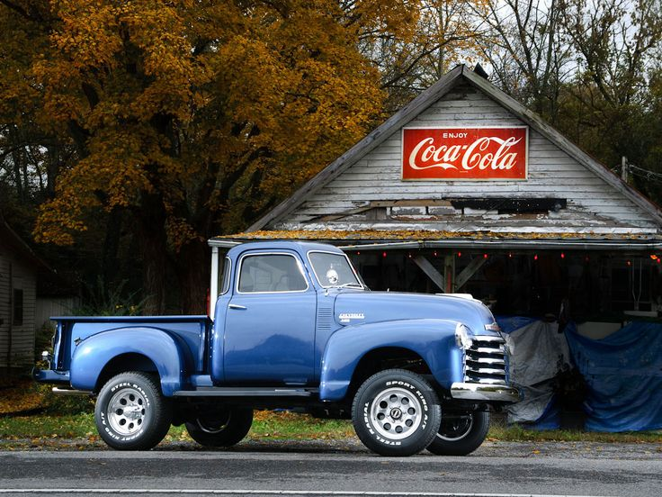 Reggie Mudd's 1950 Chevy 3100 1950 Chevy on a '82 Blazer chassis, 350, Edelbrock 4 barrel with a 350 turbo transmission.My wife sighs with caution every time the UPS guy shows up and says it's a lot like Johnny Cash (who lived and is