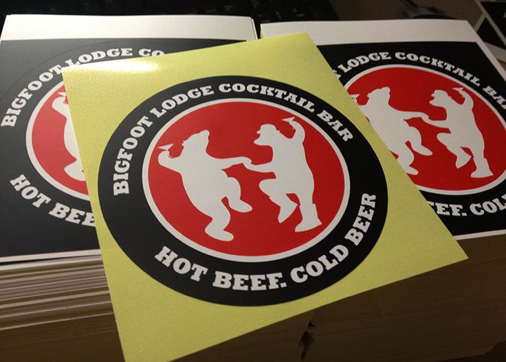 vinyl stickers for Bigfoot lodge cocktail bar!
