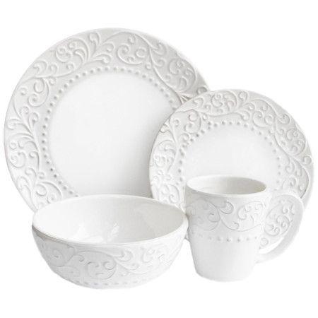 16-Piece Julia Dinnerware Set in White  sc 1 st  Pinterest & 54 best Dinnerware images on Pinterest | Dish sets Dinnerware sets ...