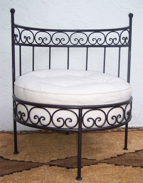 Moroccan Wrought Iron Chair   Wrought Iron Furniture Imports At Justmorocco