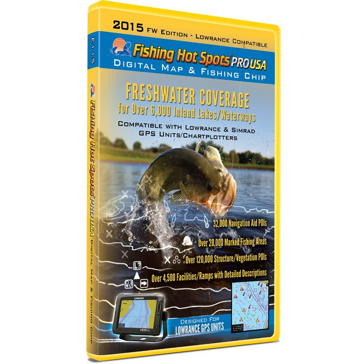 Fishing Hot Spots Pro USA Fishing Chip - Freshwater Inland Lakes Coverage 2015 - https://www.boatpartsforless.com/shop/fishing-hot-spots-pro-usa-fishing-chip-freshwater-inland-lakes-coverage-2015/