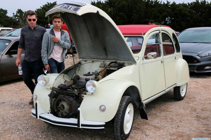 1974 Citroen 2CV. As shown in the May 2016 Cars and Coffee show in Austin TX USA.
