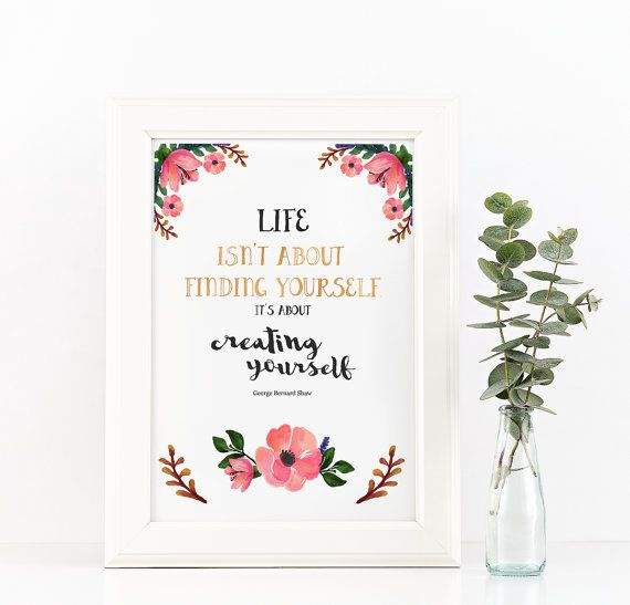 Instant Print Flowers Poster, Printable Quote Digital Printable, Spring Poster, Watercolor Flower Download, Flowery Poster Printable