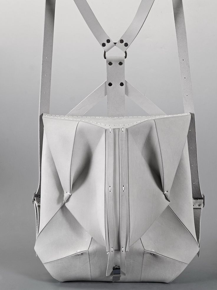 Orbio Via White Leather Backpack | Omtura | NOT JUST A LABEL