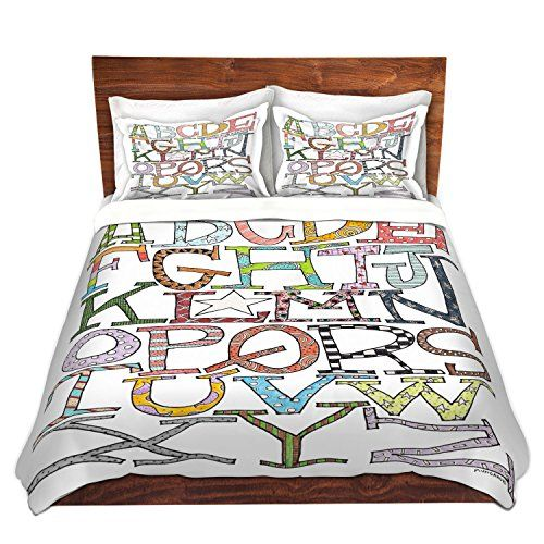 Dianoche Designs Microfiber Duvet Covers By Marley Ungaro Starbrite Alphabet King Set Duvet Cover Sets Duvet Covers Modern Duvet Covers