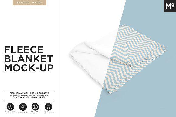 Fleece Blanket Mock-up by Mocca2Go/mesmeriseme on @creativemarket