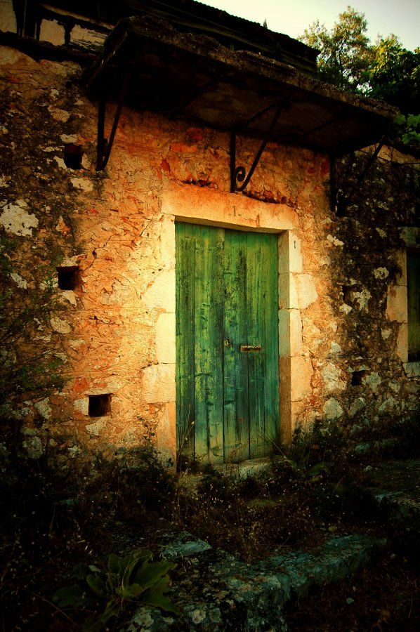 Old green door, Kefalonia