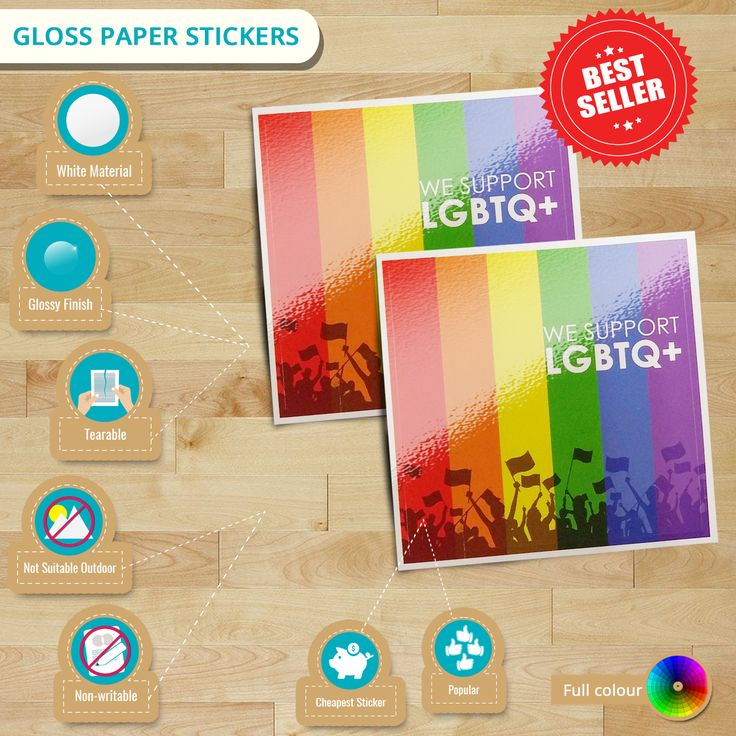 Avail StickerDot's the most cheapest & popular stickers, #GlossPaperStickers. Get it now for as low as $42 ONLY! #cheapstickers #paperstickers #glossystickers #glosspaper #glossy #labels #infographics