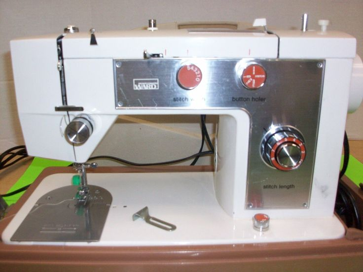 Montgomery Wards Signature Ward Sewing Machine w Cover Foot Pedal Multi Stitch | eBay