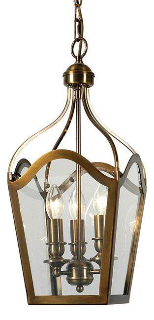 Duke Antique Brass 3 Light Hanging Lantern