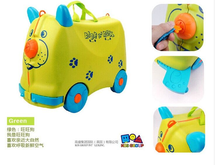 Children can ride a suitcase Bella's toy baby can sit korah travel cases of child suitcases more authentic