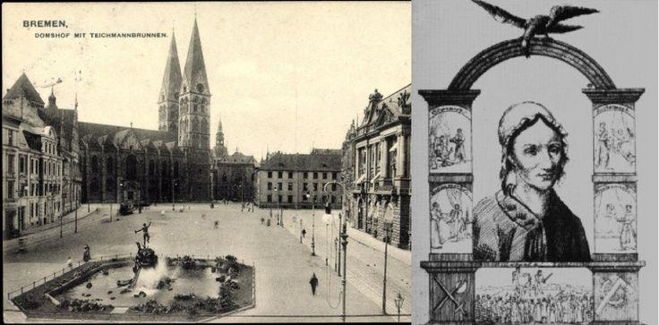 Letzte öffentliche Hinrichtung am Domshof. Giftmörderin Gesche Gottfried 1831   Bremen kunst