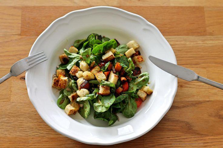 Unsere Heimat echt und gut Feldsalat mit Hokkaido Foodblogger Friesenheim