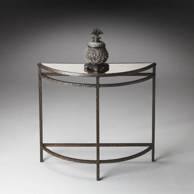 Demilune Console Table   Metalworks $619 Dimensions: 33W X 10D X