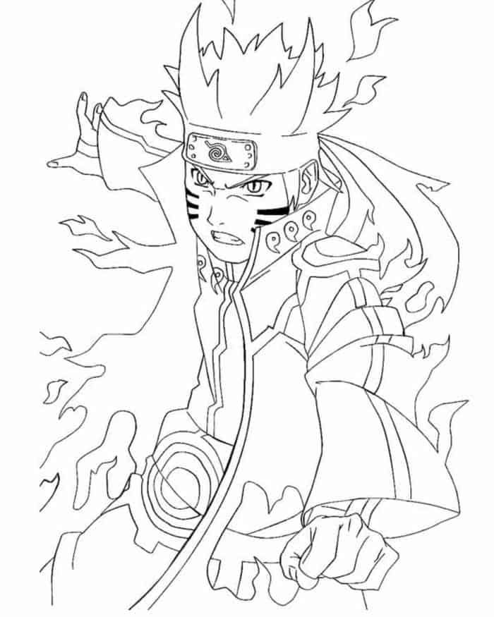 Naruto Shippuden Nine Tails Coloring Pages In 2020 Cartoon Coloring Pages Chibi Coloring Pages Coloring Pages