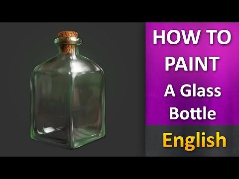 How To Paint in photoshop _ Glass Bottle ENGLISH - YouTube