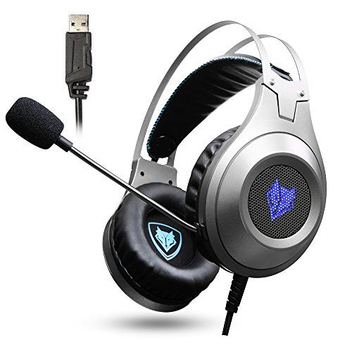 FarCry 5 Gamer  #Jeecoo #Gaming #Headset #USB #Stereo #Bass #Gaming #Headphones Over-ear #PC #Headset with #Microphone for #PC #Computer #Laptop #Smart #Phone - #Silver   Price:     Amazing Sound Premium 50mm speakers for crisp highs and thumping lows. Gift for Gamers #Jeecoo #computer #headphones will be a Nice Gift for your children, friends, or any other younger gamers. Lightweight Design A light, slim and balanced assembly gives you a natural and stable fit for maximum #g