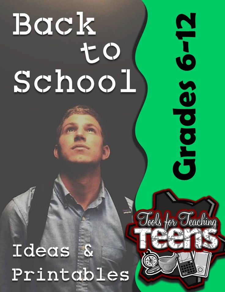free tips, ideas, printable games, & activities for the first few days of middle or high school