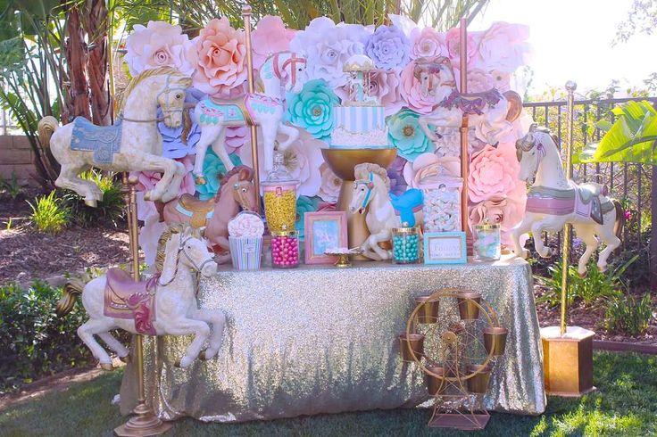 Carousel Birthday Party Ideas | Photo 1 of 29
