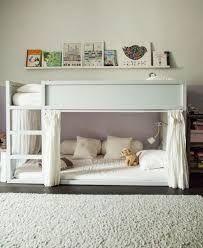 KURA Reversible bed, white, pine