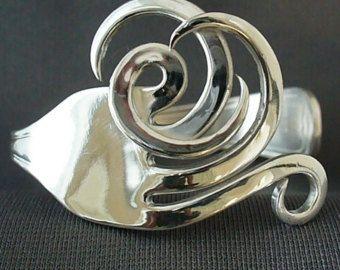 Bracelet fourchette cœur w / boîte de cadeau par Forkwhisperer