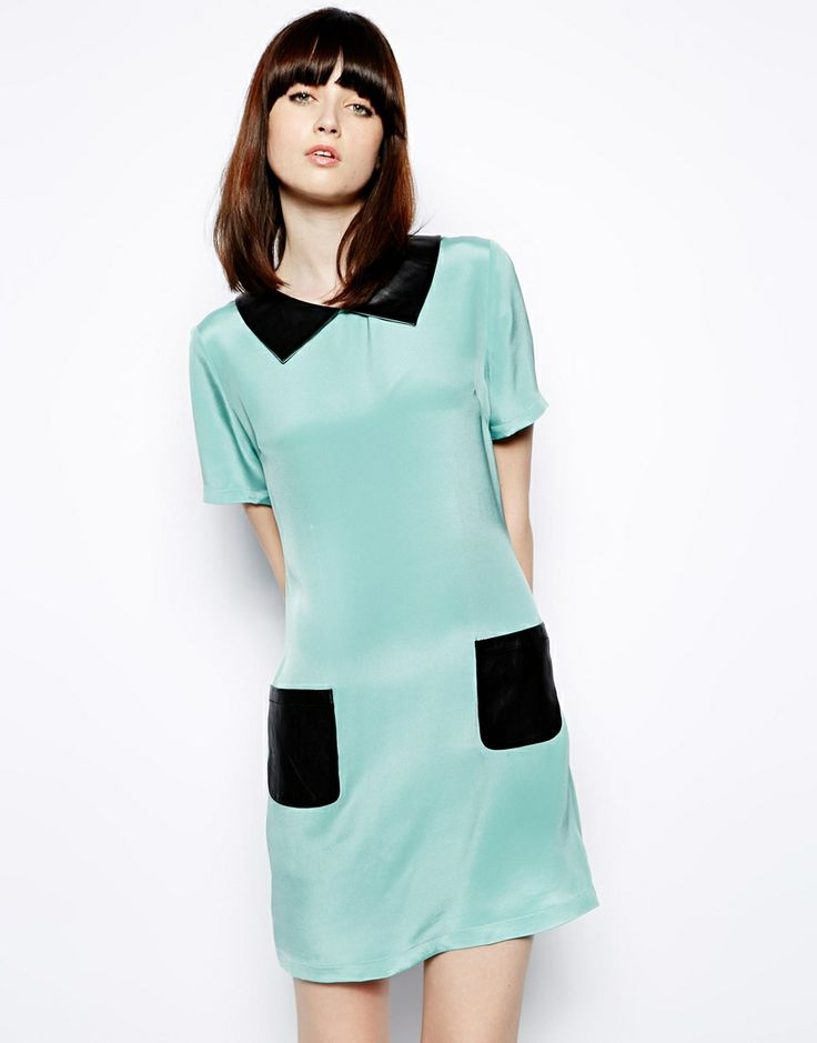 Love & Liberty Vera Silk Dress with Leather Detail