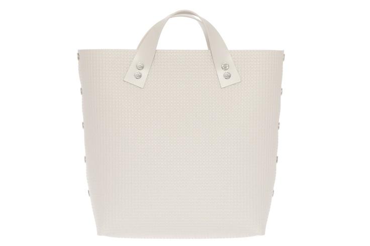 Dampaì - Bernarda Handbag TWO SHORT White