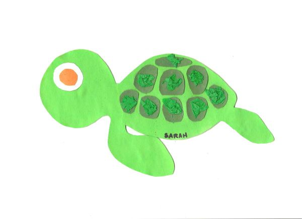 Squirt from Finding Nemo craft