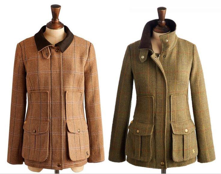 Joules Fieldcoat Womens Tweed Field Coat Semi Fitted - Spring Summer 2015