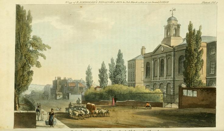 A view of London: Tottenham Court, Ackermann's Repository, 1812