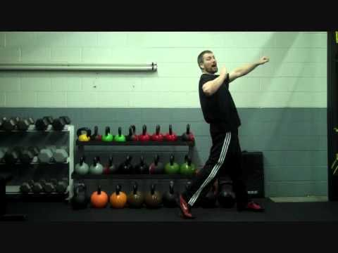 Great coaching for the glide. Check out that collection of kettlebells.