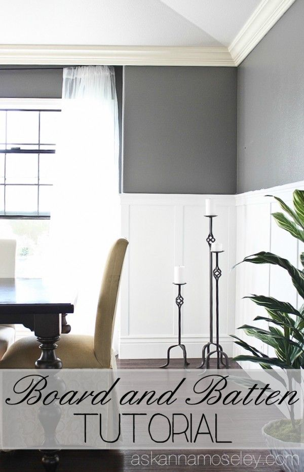 Dining Room Board And Batten Tutorial