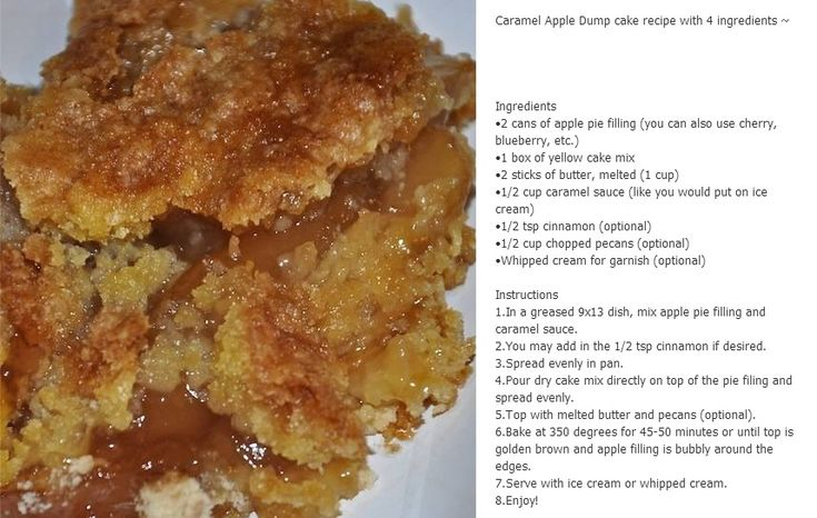 caramel apple dump cake OMG I want to make this. I will make this.