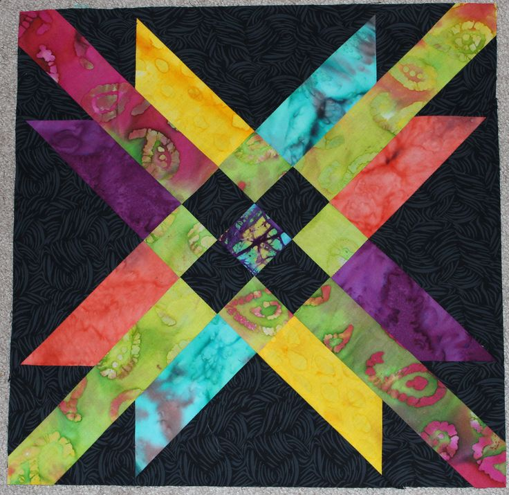 Block #6, Mexican Star. Eleanor Burns Quilt In A Day BOM