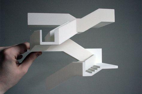 SLS polyamide Architecture model