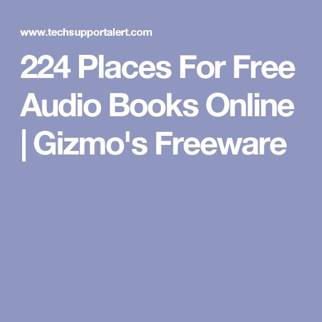 224 Places For Free Audio Books Online | Gizmo's Freeware