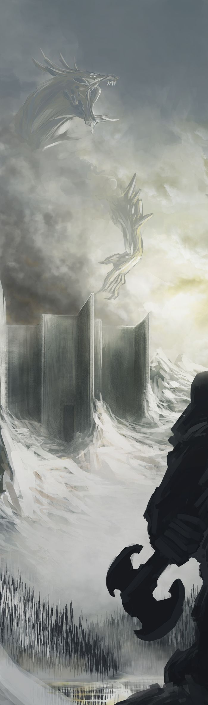 dwarf vs dragon!!!! digital by Emanuele Desiati