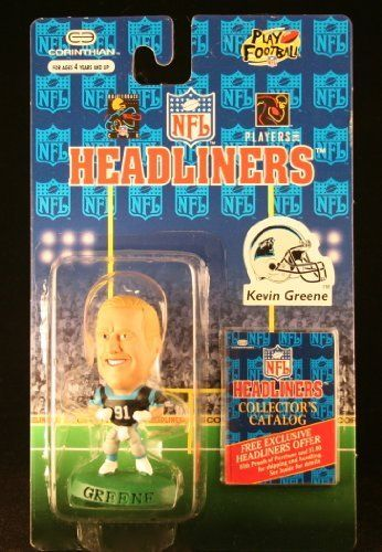 KEVIN GREENE / CAROLINA PANTHERS * 3 INCH * 1996 NFL Headliners Collector Figure by Corinthian. $7.99. Displayed figure stands approximately 3 inches tall. Figure is static (Can NOT be posed). From Corinthian.. KEVIN GREENE / CAROLINA PANTHERS * 3 INCH * 1996 NFL Headliners Collector Figure. Originally released in 1996 - Retired / Out of production. Ages 4 and up.. KEVIN GREENE / CAROLINA PANTHERS * 3 INCH * 1996 NFL Headliners Collector Figure. Displayed figure stan...