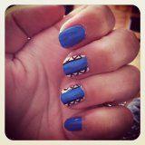 Blauwe nagels!!