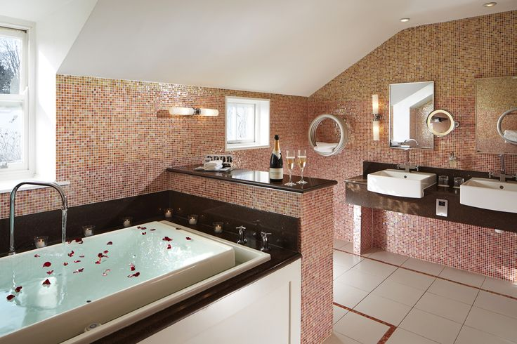 Enjoy a relaxing soak in our beautifully designed bathroom in our Holly suite