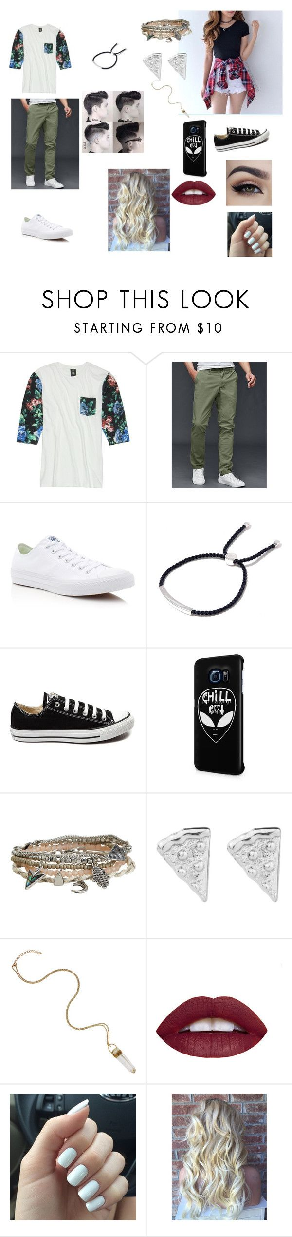 """""""My boyfriend and I be like"""" by carlyfaithh ❤ liked on Polyvore featuring Insight 51, Gap, Converse, Monica Vinader, Samsung and Aéropostale"""