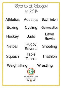 Commonwealth Games 2014 Activity Pack