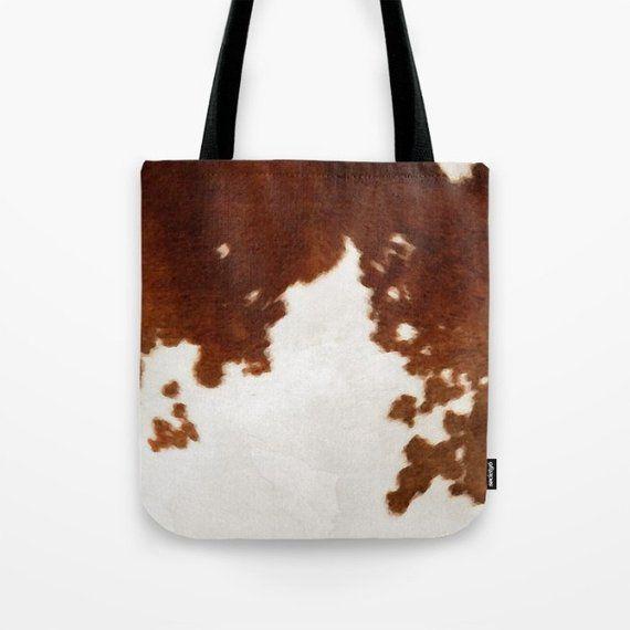 Cowhide Bag Cowhide Purse Canvas Tote Bag Cowhide Print Tote