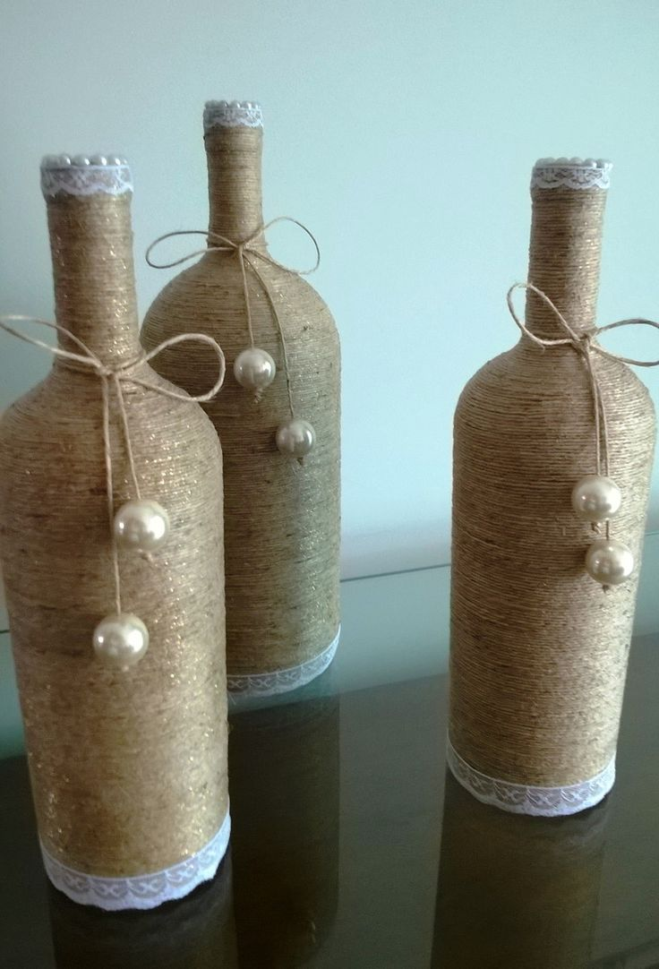 2438 best Garrafas images on Pinterest   Decorated bottles, Bottle ...