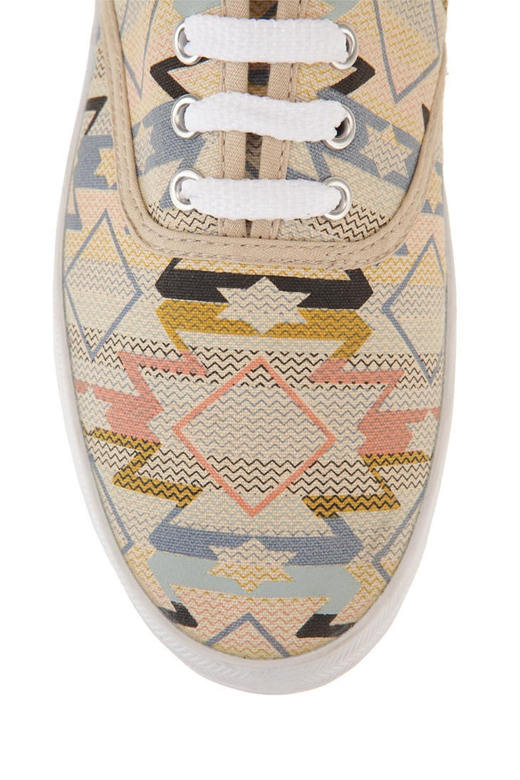 Aztec Plimsoll Sneaker. Urban Outfitters. Got a hole in the bottom of mine. Definitely a repurchase.