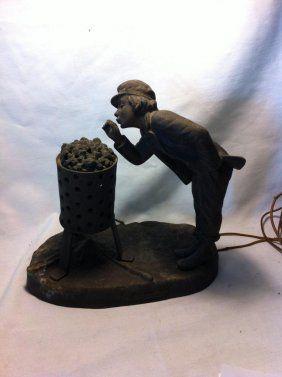 Ahi La Bonne Pipe, Desk Lamp, Signed